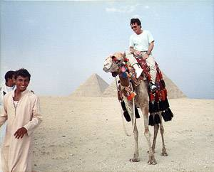Shaun Costello, the avenger of Giza, chases would-be terrorists, on his trusty camel Daisy.