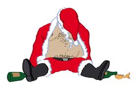 Drunk santa illustration great