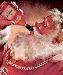 Santa drinking illustration great