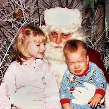 Santa drunk with kids