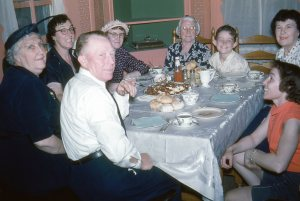 The Stephensons visit us in Green Acres. It was my Great Grandmother's 85th birthday. She's in the back next to little Shaun.
