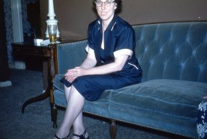 I hid from Aunt Catherine.