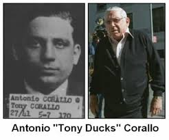 The Genovese contingent was next with Big Mike Miranda leading the way, closely followed by Phil Lombardo, Vinnie 'Chin' Gigante, and the others. And then the Bonanno's, and the Colombo's, and finally the Lucchese's new boss Anthony 'Tony Ducks' Corallo, and his lieutenants.