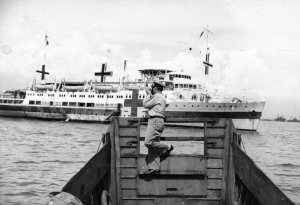 Lt. Al photographing the Hospital Ship. New Guinea 1944