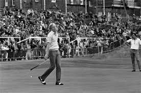 Johnny Miller on the fairway at Troon.