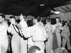 USO Dance in Manila Philippines. That's Lt. Al on the far left.