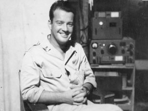 Lt. Al in the Radio Room - Papua New Guinea 1944