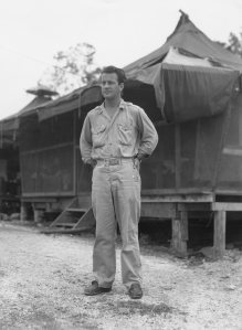 Lt. Al looking like he needs a cold one. New Guinea 1944