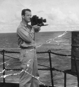 On the way to the Philippines, Lt. Al snaps a few pictures.The swarthy Japs are out there somewhere,