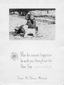 CHRISTMAS 1944 - Lt. Al gets a Christmas Card.