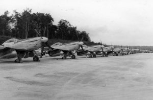 P51's lined up and ready to rumble. Outside Manila Philippines 1945