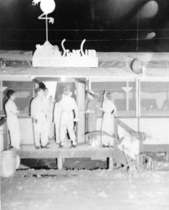 THE STORK CLUB - Lt. Al and his pals enjoy the tropical night life. Papua New Guinea