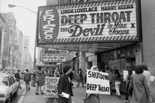 DEEP THROAT became such a box office phenomenon that the Religious Right came out in force to demonstrate across the country