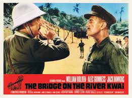 Alec Guiness and Sessue Hayakawa in David Lean's classic BRIDGE ON THE RIVER KWAI