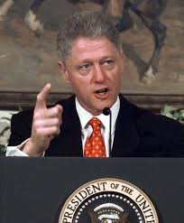 I did not have sex with that woman, Monica Lewinsky.